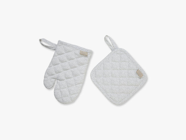 Kids Oven Glove and Pot Holder Play set, Grey Wave fra Cam Cam Copenhagen