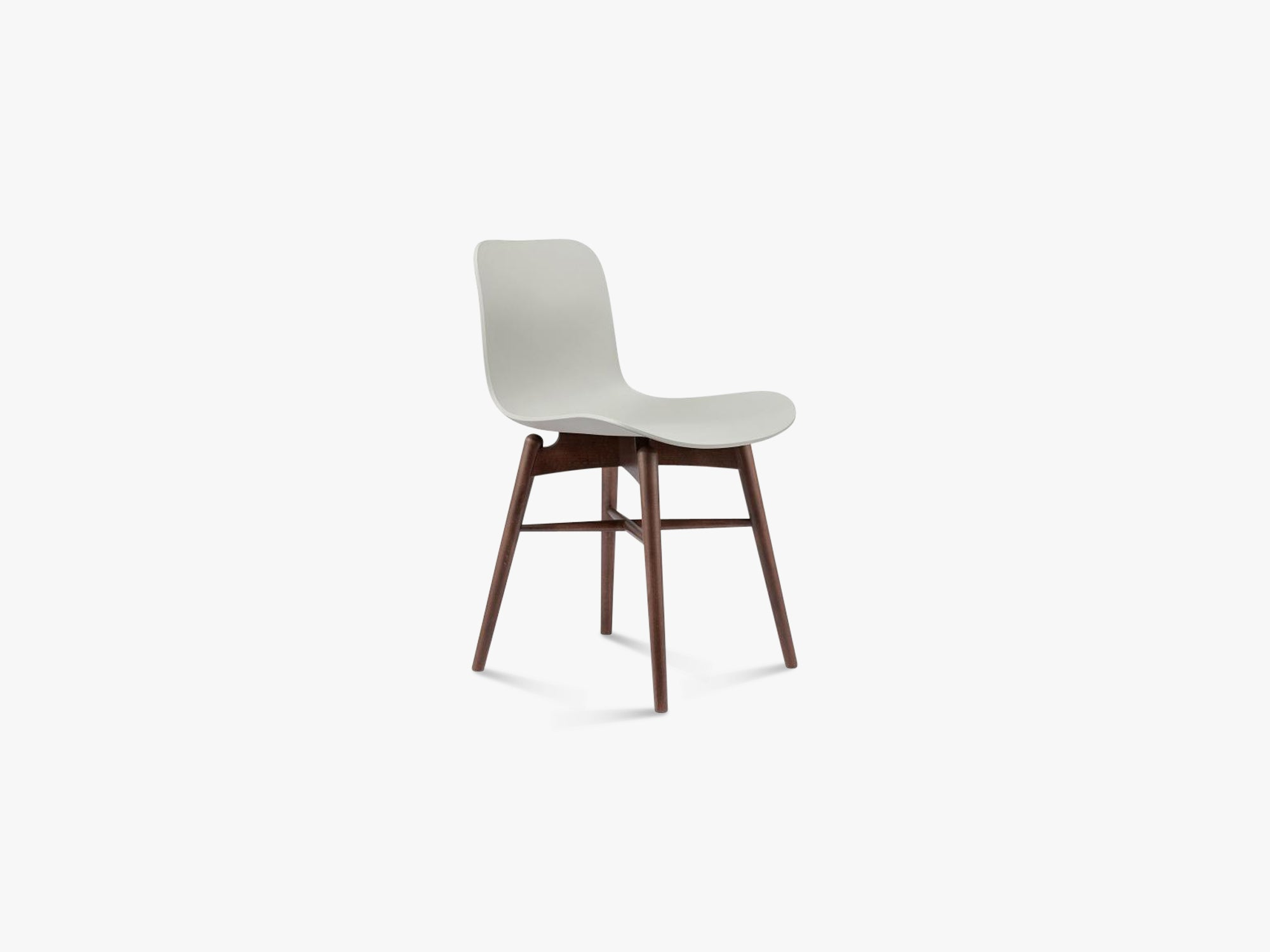 Langue Chair Wood, Brass/Flint Grey fra NORR11