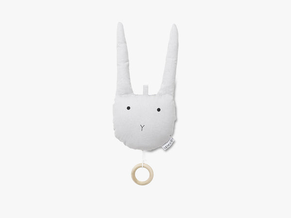 Alma Music Mobile Rabbit Solid, Dumbo Grey fra Liewood