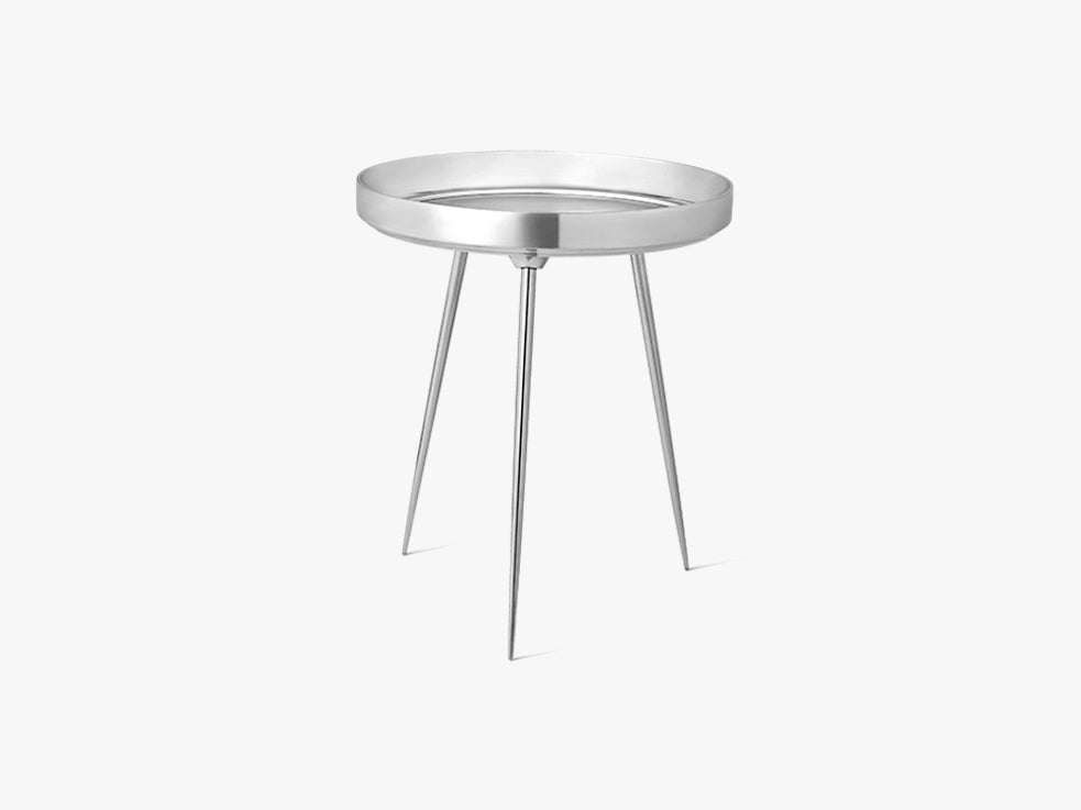 Bowl Table Medium, Partly Recycled aluminium - Polished fra Mater