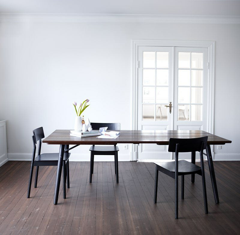 Split Dining Table Røget Eg fra WOUD