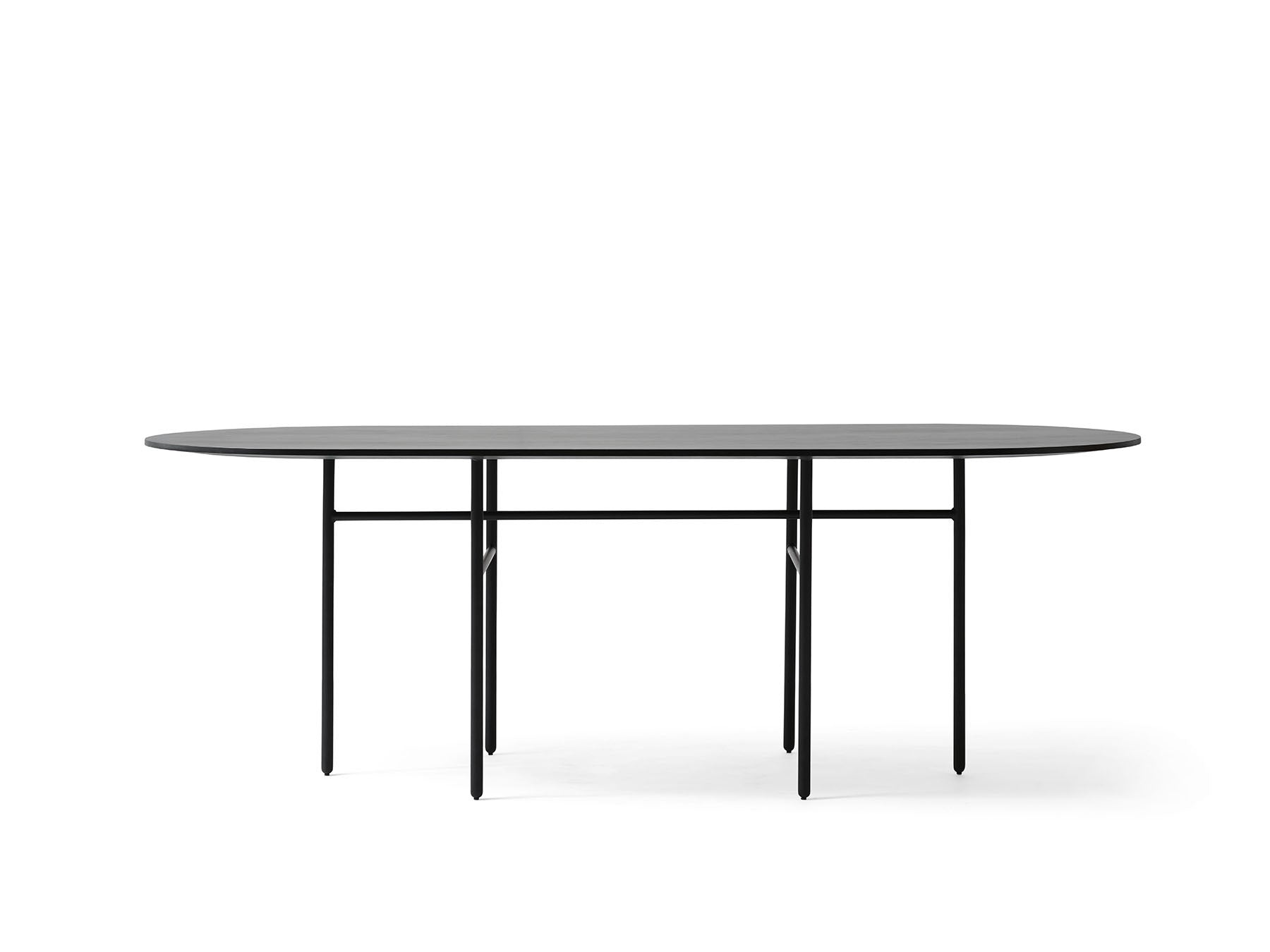 Oval Snaregade Table - Black fra Menu