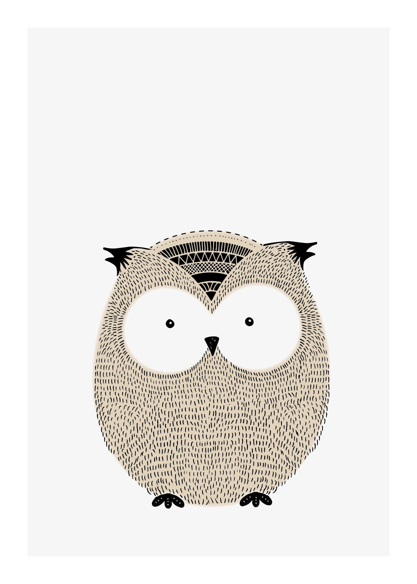Owl - Plakat fra Paper Stories