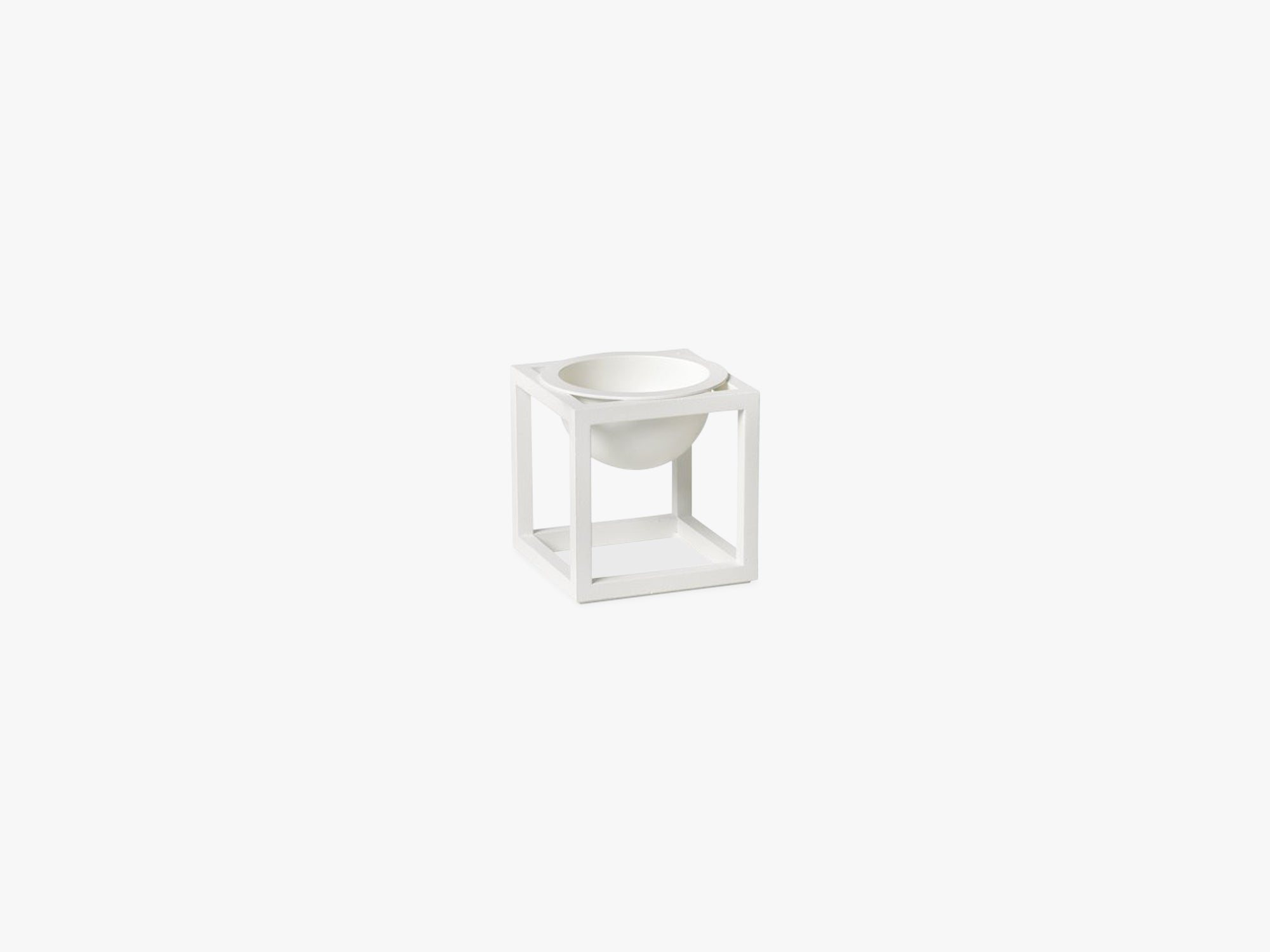 Kubus Bowl mini, white fra By Lassen