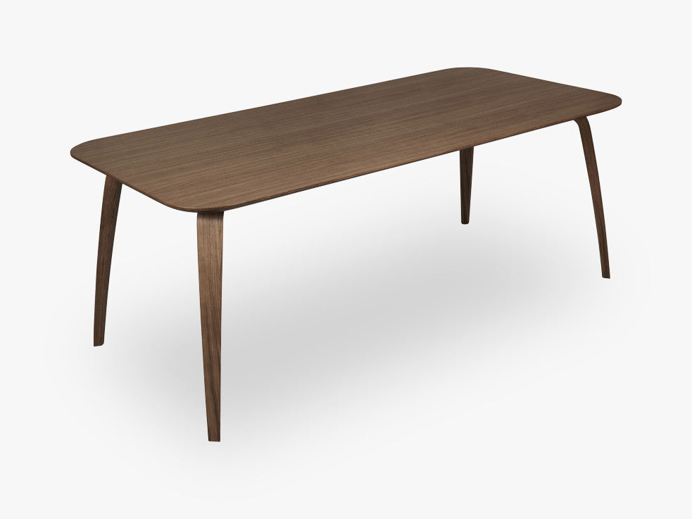 GUBI Dining Table - Rectangular - 100x200, Walnut base, Walnut top fra GUBI
