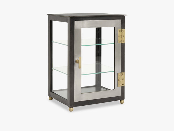 Display cabinet black/silver/brass fra Nordal