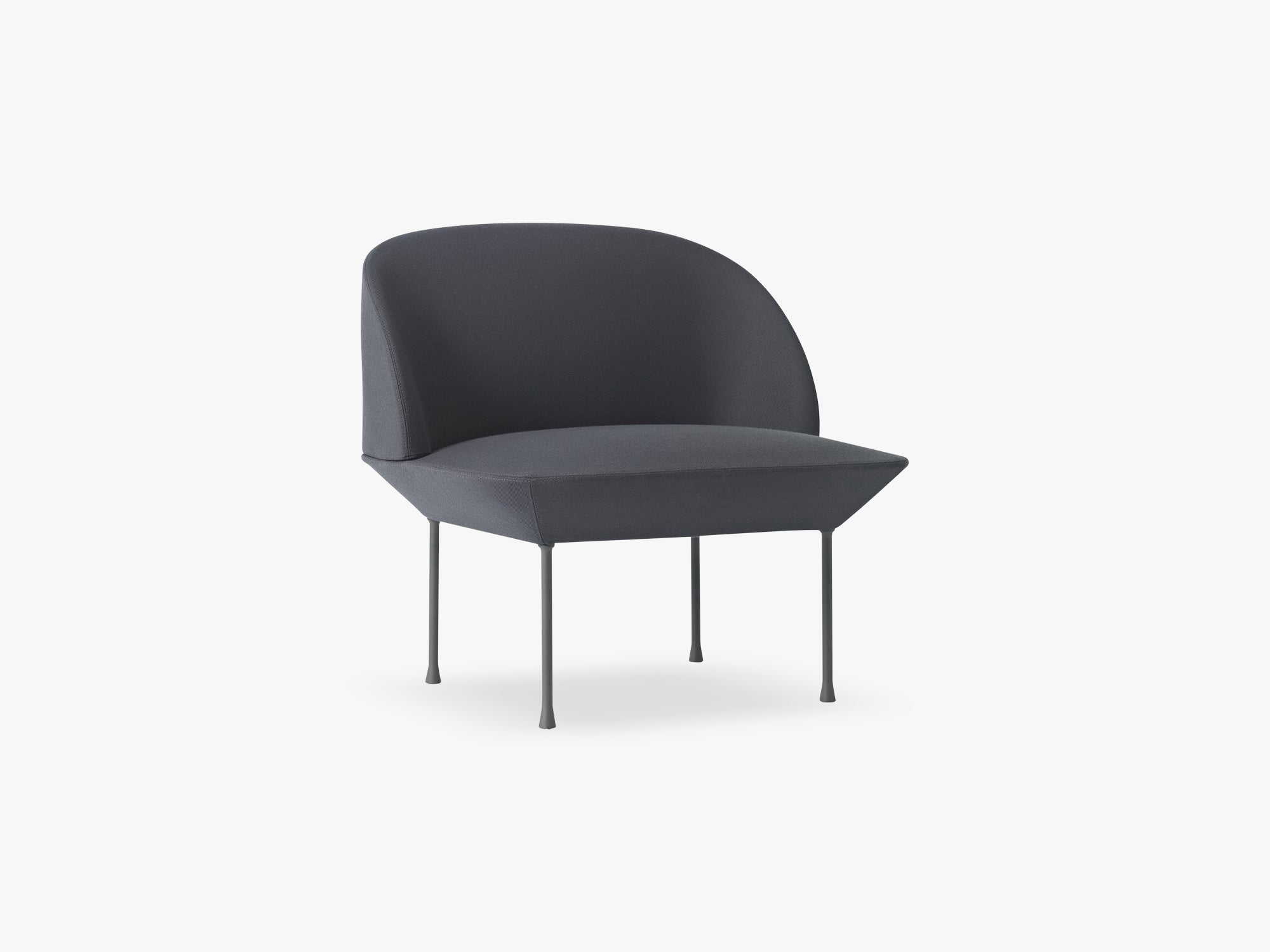 Oslo Lounge Chair / Lounge Chair, Steelcut 180 / Dark Grey Legs fra Muuto