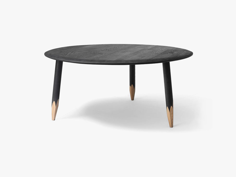 Hoof Table - SW2 - Ø90cm - Black fra &tradition