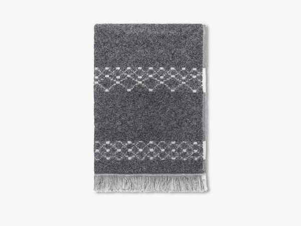 Path towel, melange grey fra Elvang