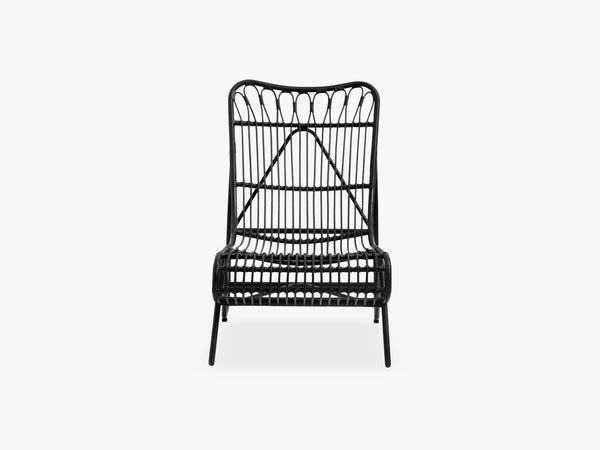 Garden lounge chair, color black fra Nordal
