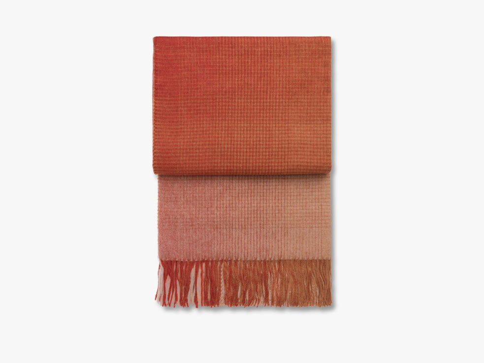 Horizon plaid, pompeian red/orange fra Elvang