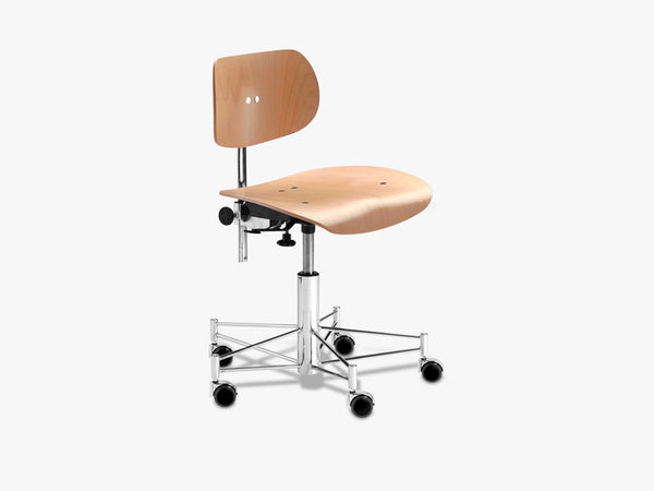 SBG197R Office Chair, Beech fra Egon Eiermann