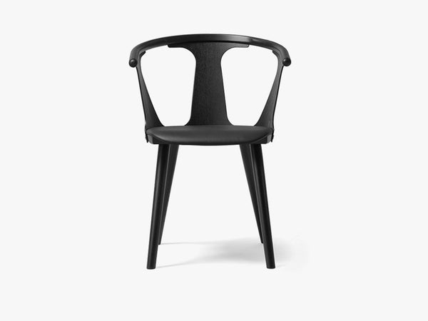 In Between Chair - SK2 - Black stained oak w. black leather fra &tradition