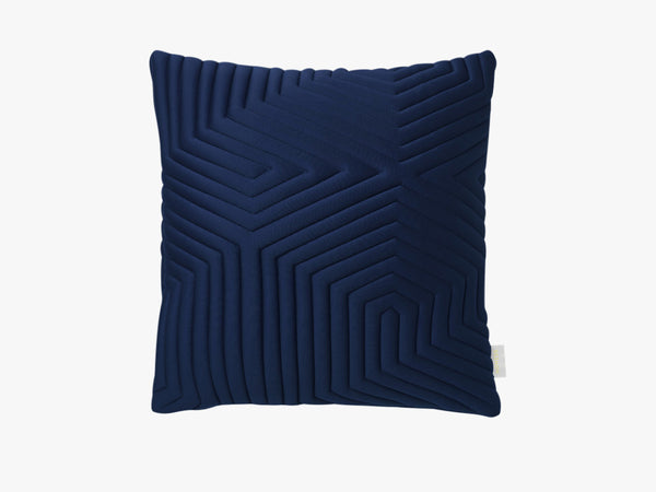 Optical Memory Pillow Square - Blå fra Nomess Copenhagen