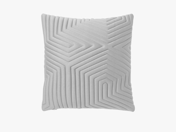 Optical Memory Pillow Square - Grå fra Nomess Copenhagen