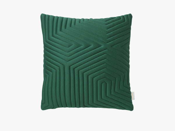 Optical Memory Pillow Square - Grøn fra Nomess Copenhagen