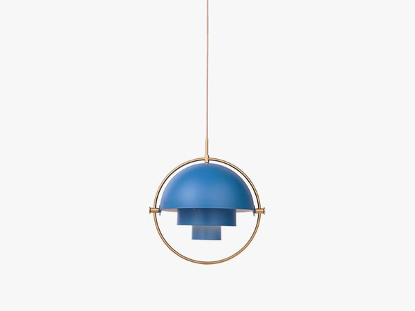 Multi-Lite Pendant - Ø36 - Brass Base, Blue fra GUBI