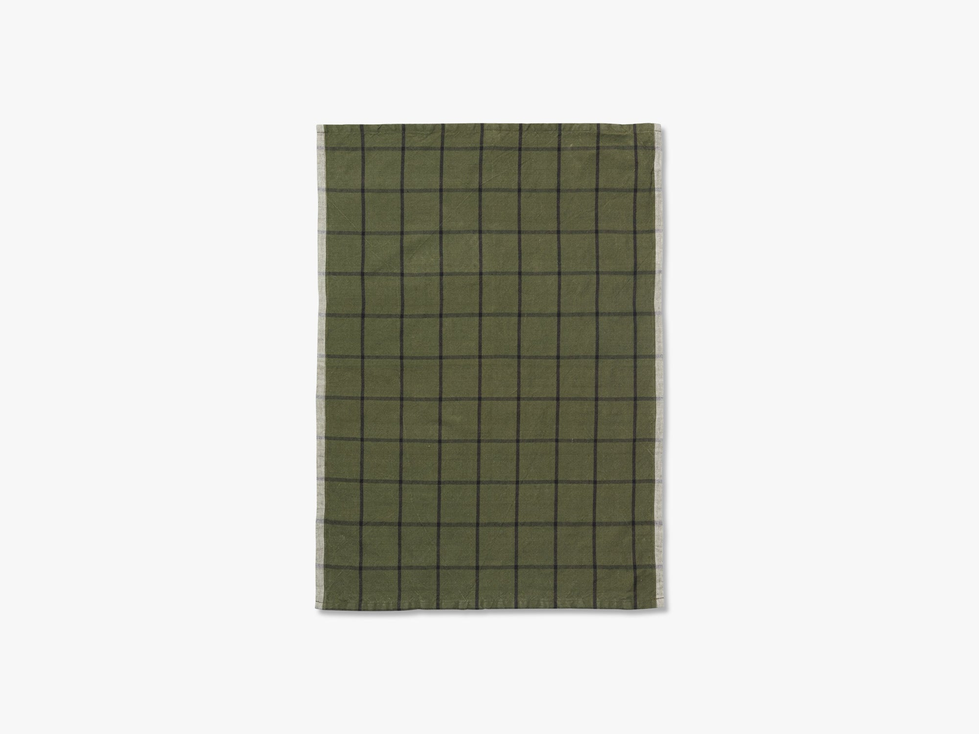Hale Yarn Dyed Linen Tea Towels, Green/Black fra Ferm Living