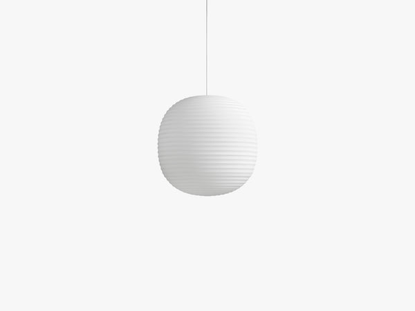 Lantern Pendant, Frosted White Opal Glass, Ø40 fra New Works