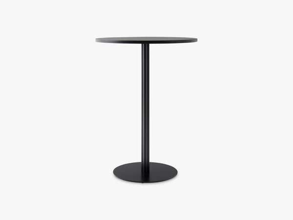 Harbour Column Bar Table Ø80 - Charcoal Linoleum with Black Base fra Menu