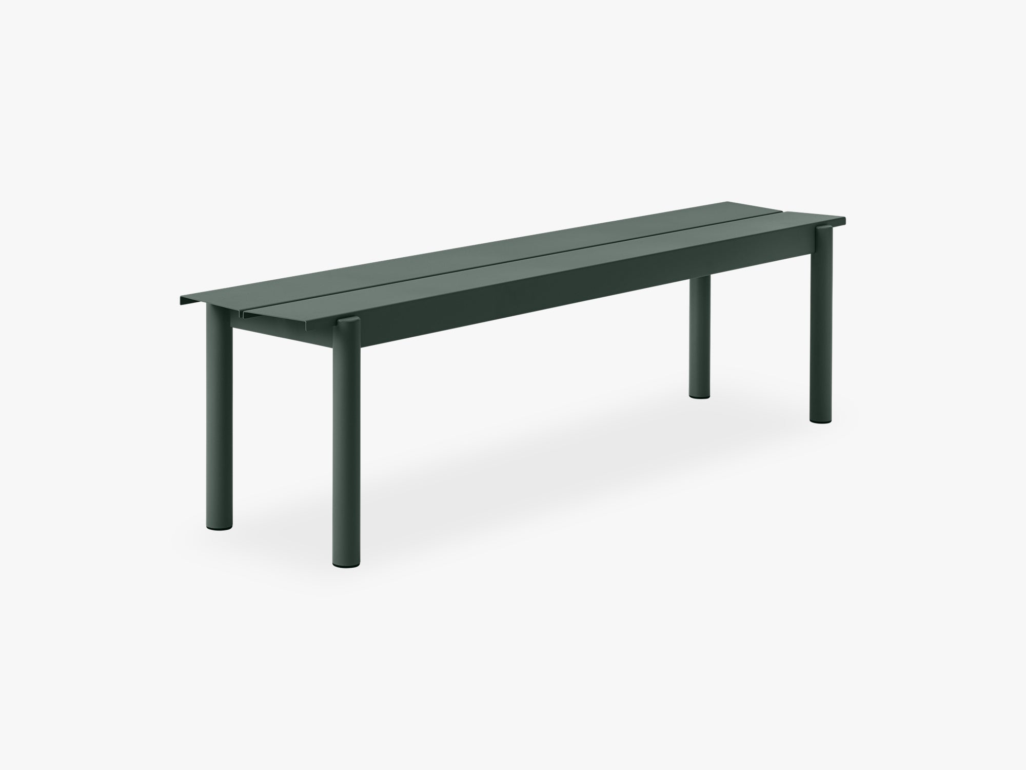 Linear Steel Bench - 170, Dark Green fra Muuto