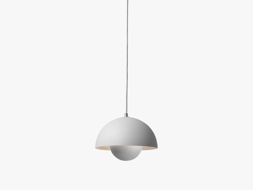 Flowerpot Pendant - VP1, Matt Light Grey fra &tradition