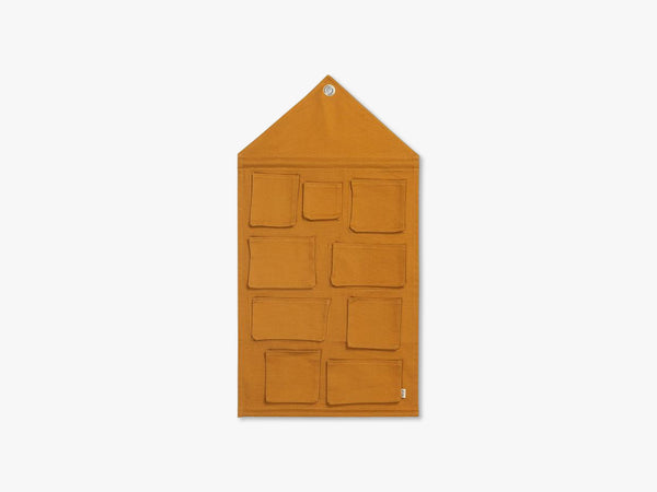 House Wall Storage, Mustard fra Ferm Living