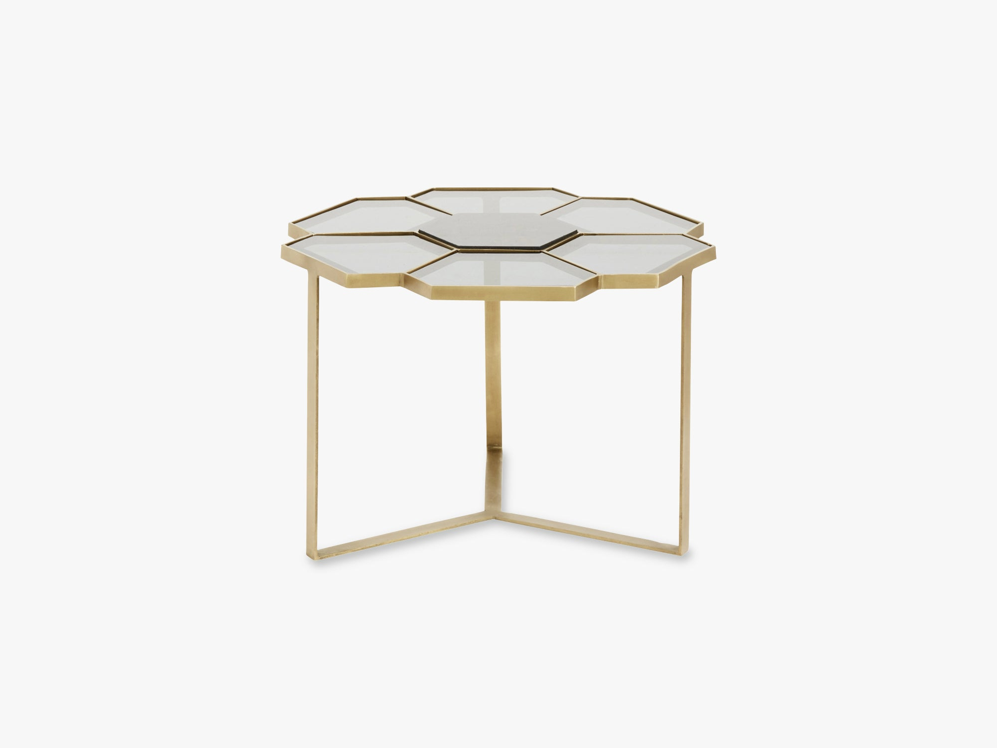 Flower coffee table, small, black/golden fra Nordal