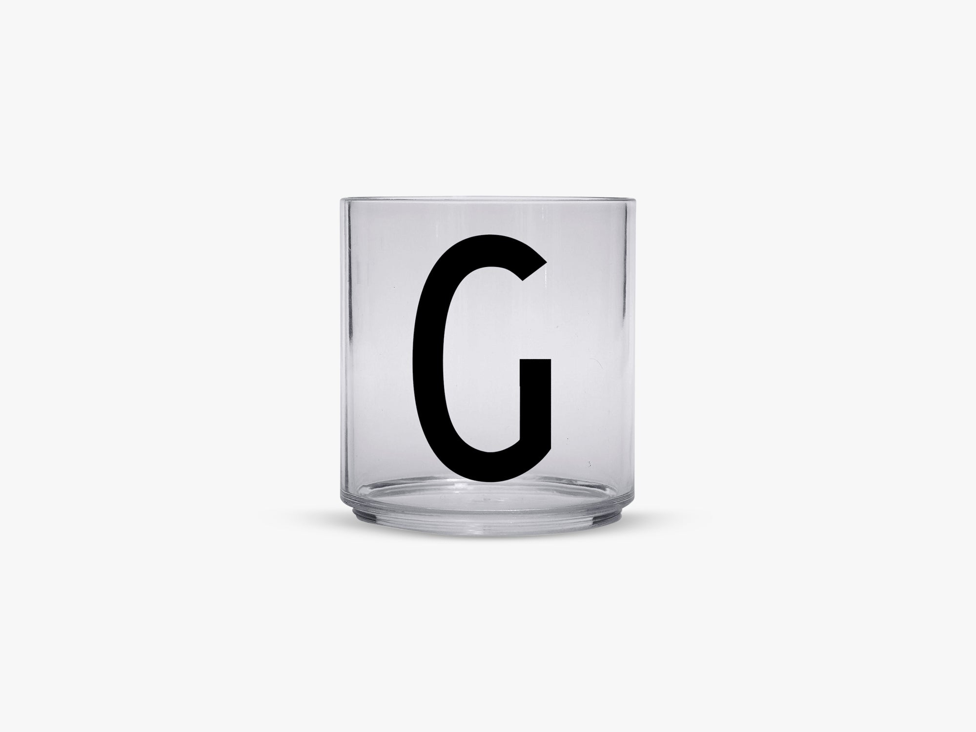 Kids personal drinking glas A-Z, G fra Design Letters