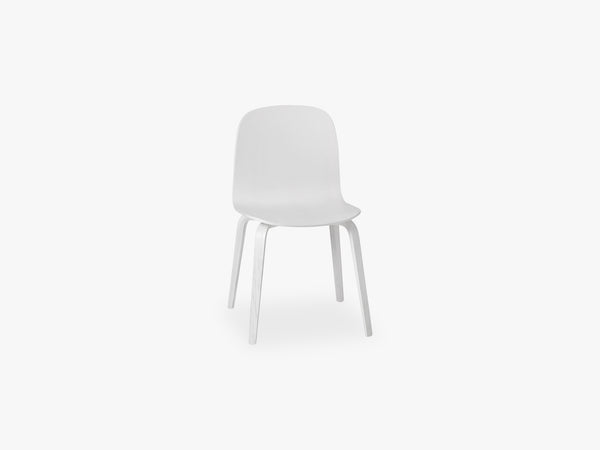 Visu Chair - Wood Base - Wood Shell, White/White fra Muuto