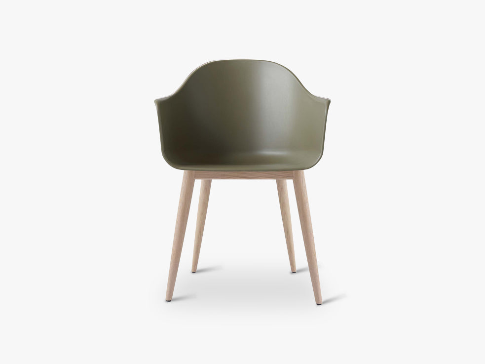Harbour Chair, Olive/Natural Oak Base fra Menu