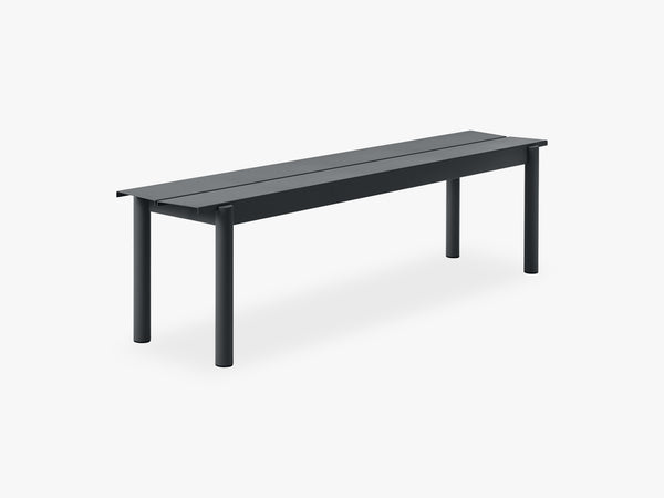 Linear Steel Bench - 170, Black fra Muuto