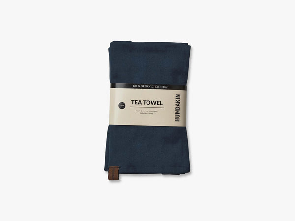 Organic Tea Towels, Sea Blue fra Humdakin