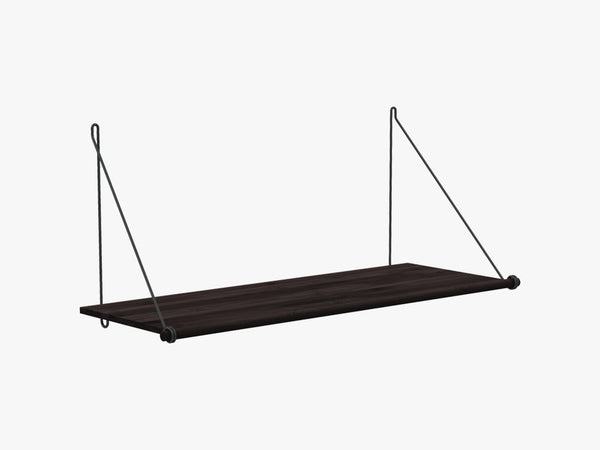 Loop Shelf Dark, Black Steel Mounting Bracket fra We Do Wood