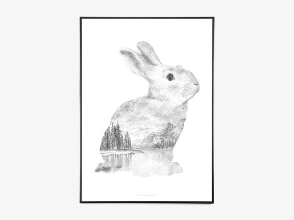 Rabbit Pencil Drawing fra What We Do