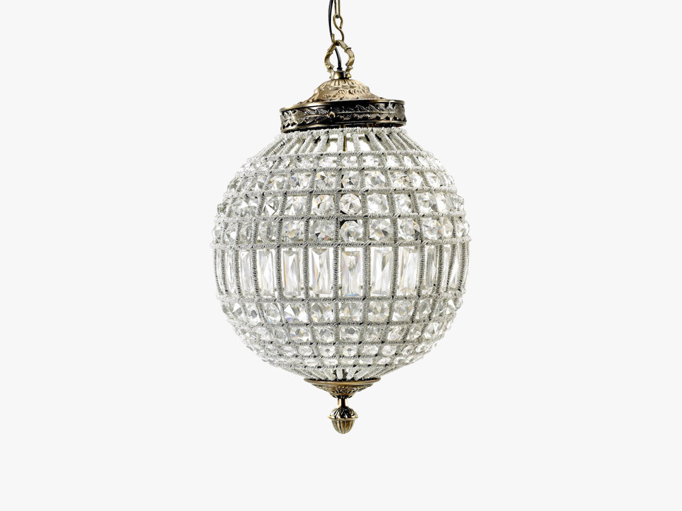 Crystal lamp, glass beads, medium ball fra Nordal