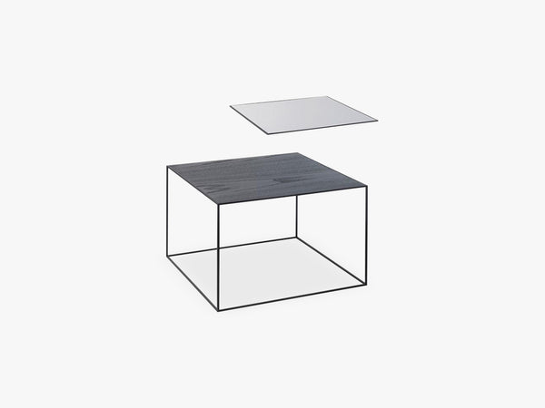 Twin 49 table, black, black/cool grey fra By Lassen