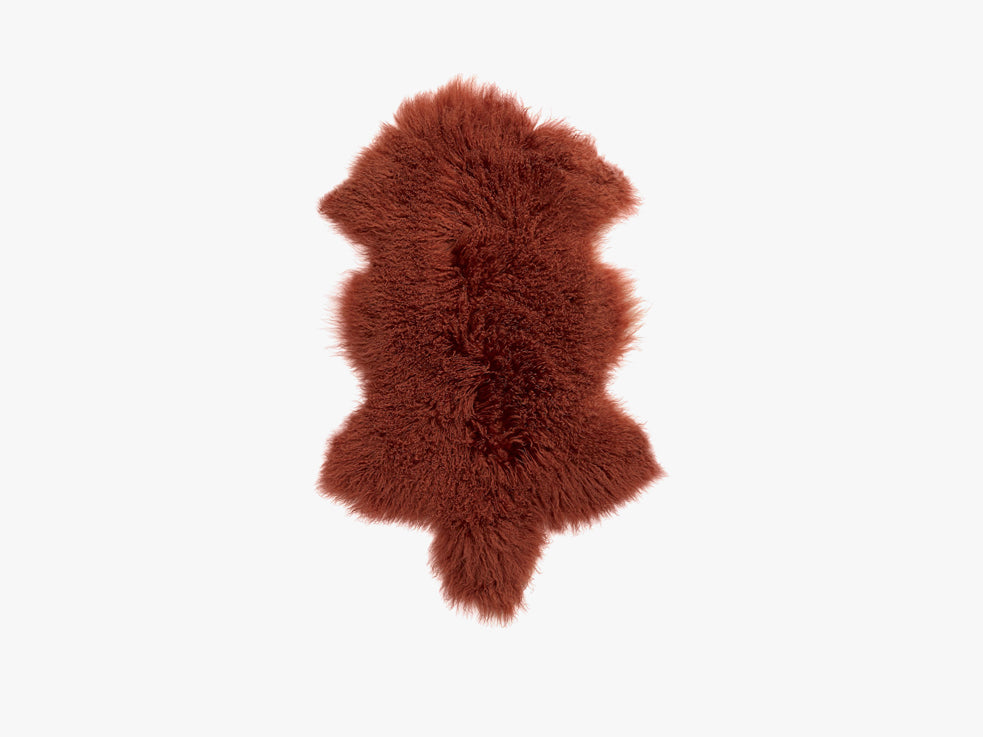 Lamb fur, orange fra Nordal