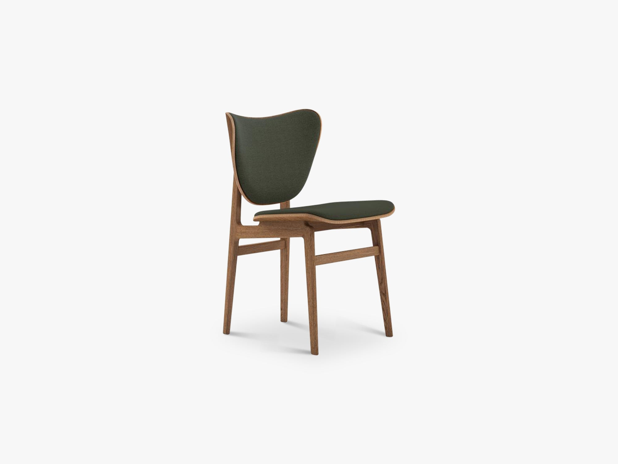 Elephant Chair, Brown/Forest Green Wool fra NORR11