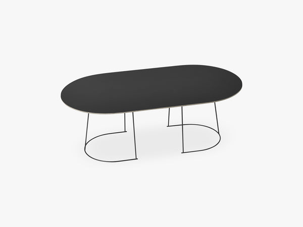 Airy Coffee Table - Large, Black - Nanolaminate fra Muuto