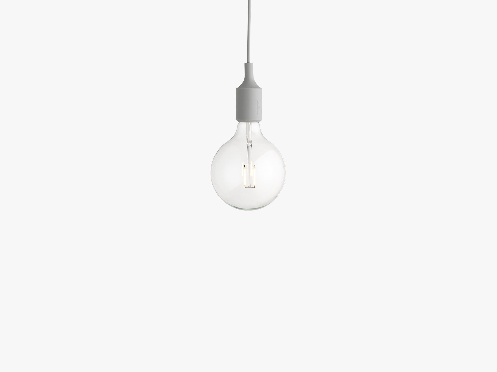 E27 Pendant Lamp, Light Grey fra Muuto