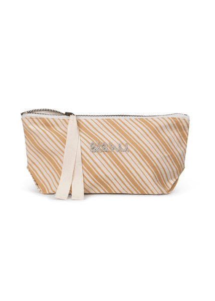 Pouch Mini Dobby Striped, Mix Amber fra Aiayu