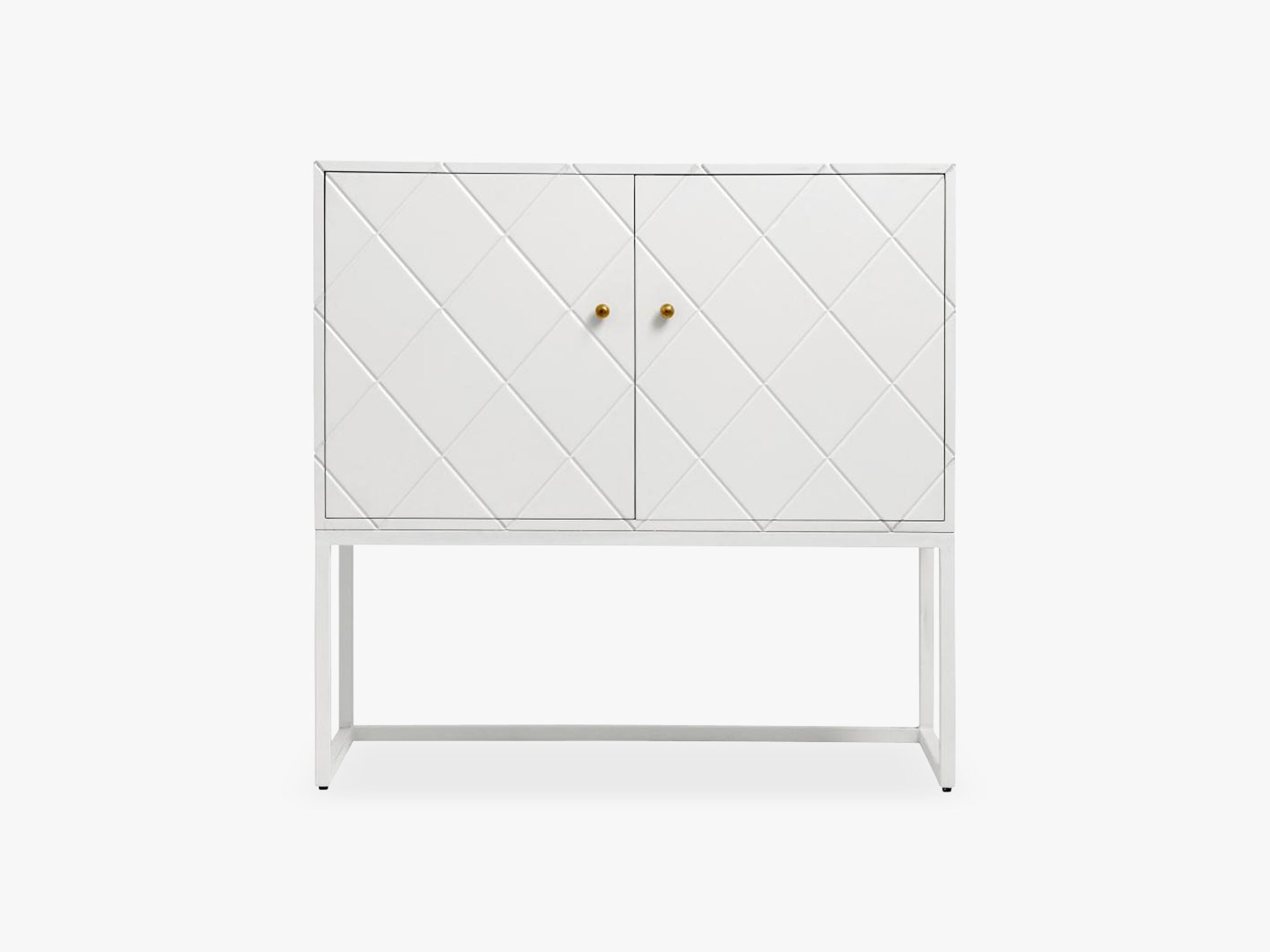 Buffet, white squares, 2 sections, wood fra Nordal