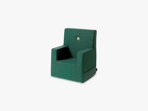 KK Kids Chair XL, Deep green w light green fra By KlipKlap