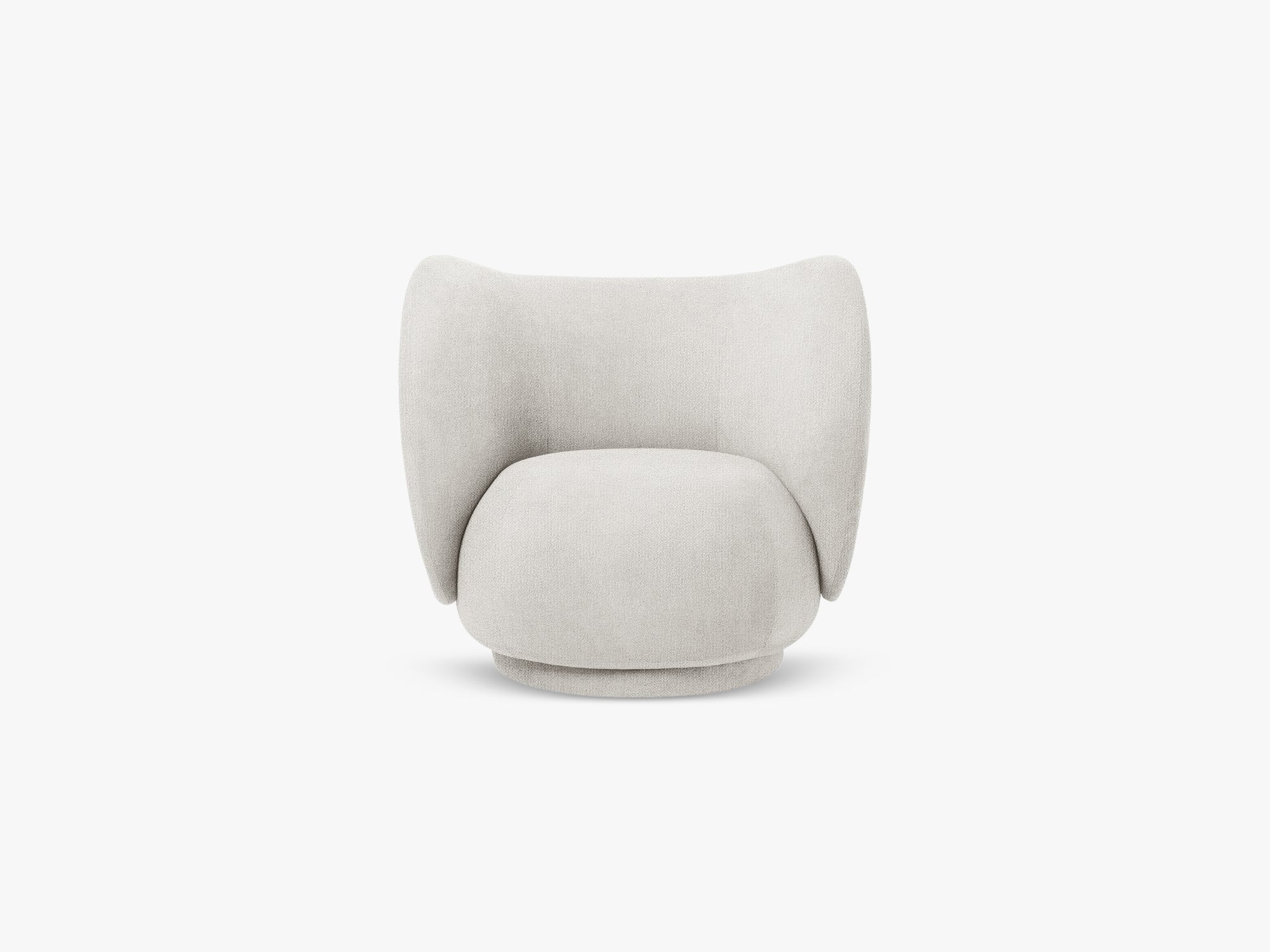 Rico Lounge Chair, Boucle - Off White fra Ferm Living