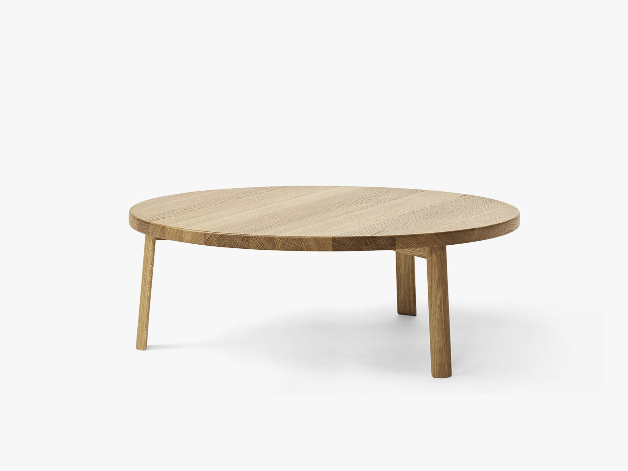 Ease Lounge Table Ø90, H33 Oak Natural fra MILLION