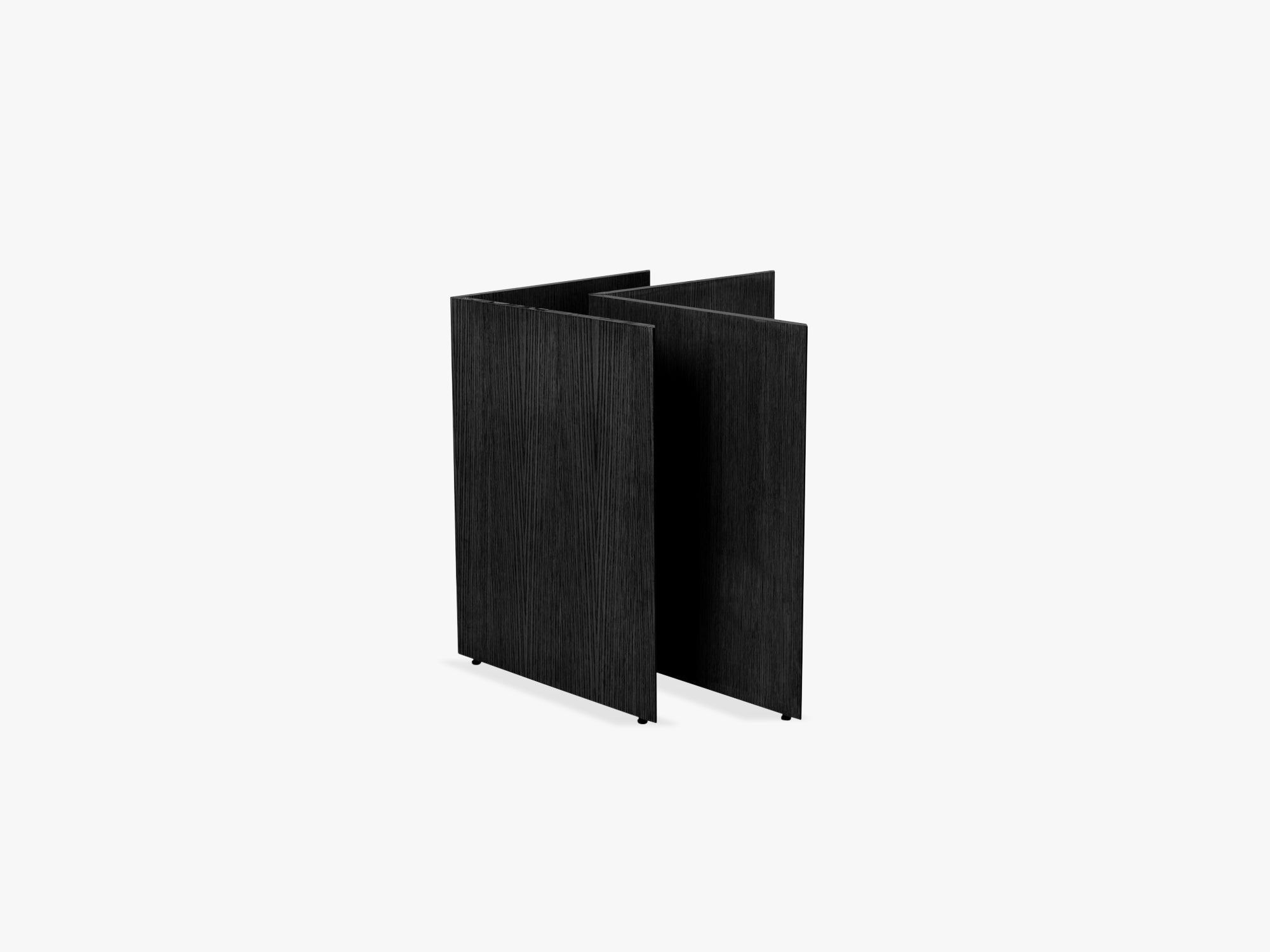 Mingle Table Legs Wood W48, Black Veneer fra Ferm Living