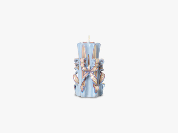 Hand-Carved Candles, Light Blue fra Ferm Living
