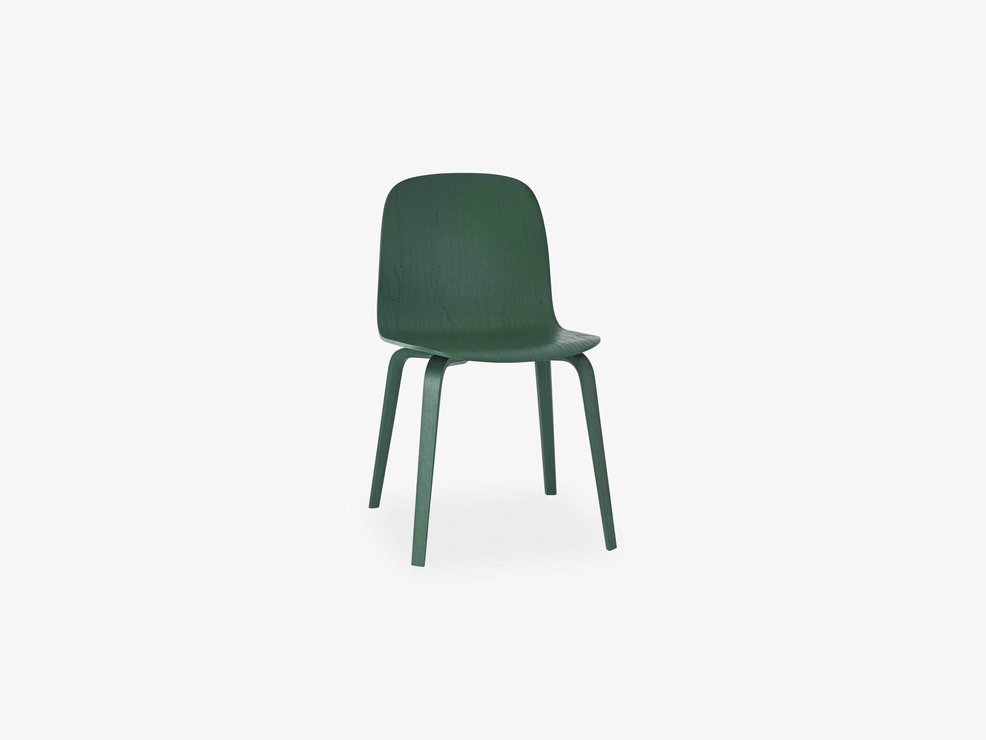 Visu Chair - Wood Base - Wood Shell, Green fra Muuto