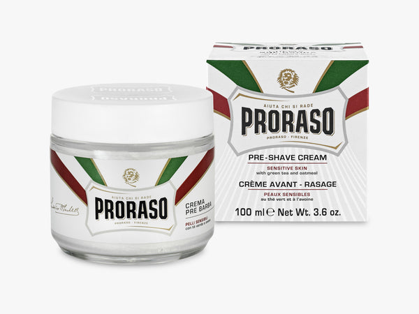 Pre Shave Cream, Sensitive Green Tea 100ML fra Proraso